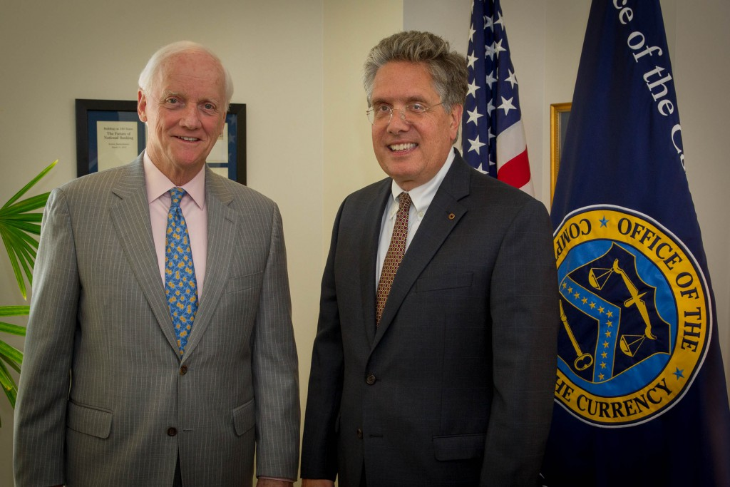 Gov. Keating with Comptroller Curry
